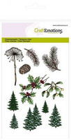 CraftEmotions leimasetti A6 Chtistmas tree, branches Christmas Nature