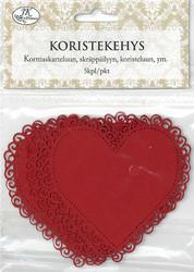 JK Koristekehys sydän punainen 5kpl