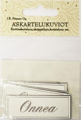 JK tekstikyltit Onnea hopea 2965