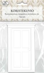Koristekuvio ovi valkoinen 5kpl