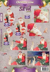 Hobbyidee 3d-kuvat Christmas line hi-0098