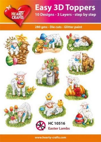 Hearty Crafts stanssatut 3d-kuvat Easter Lambs