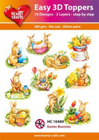 Hearty Crafts stanssatut 3d-kuvat Easter Bunnies