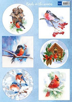 Marianne design korttikuvat Birds in the winter vk9572