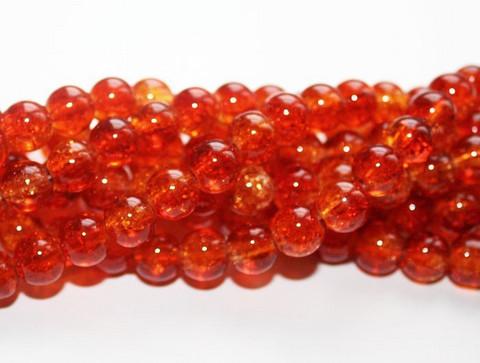 Särölasihelmi puna-oranssi 8mm 80cm