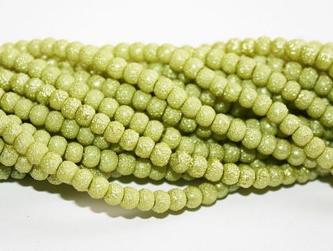 Kuuhelmi vaaleanvihreä 4mm 80cm
