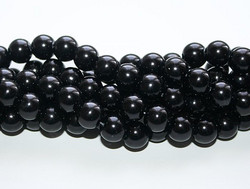 Helmiäislasihelmi musta 10mm 80cm