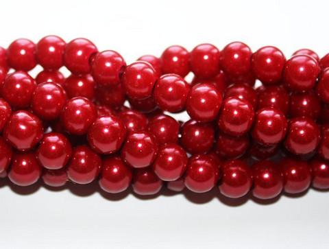 Helmiäislasihelmi punainen 8mm 80cm