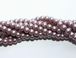 Helmiäislasihelmi harmaanruskea 4mm 80cm