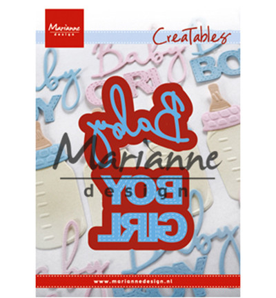 Marianne Design Creatables Baby text boy & girl stanssit lr0576