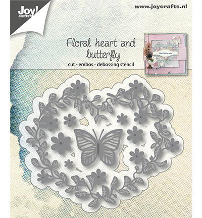 Joy Craft Flowerheart and butterfly stanssit 6002/1172