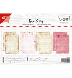 Joy Craft Love Story paperisetti 12kpl a4