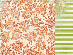 KaiserCraft skräppipaperi Marigold straw 12x12