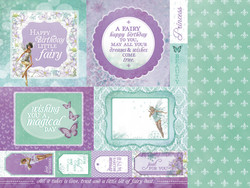 KaiserCraft skräppipaperi Fairy Dust fairy wishes 12x12