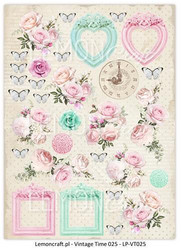 Lemoncraft korttikuvat Vintage Time 025 a4