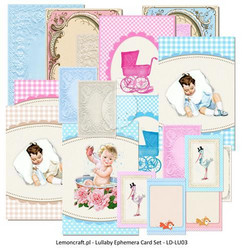 Lemoncraft Lullaby Ephemera card 24kpl