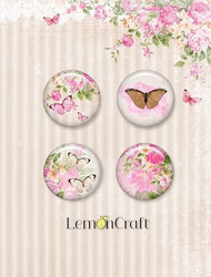 Lemoncraft Sweet Secrets napit badge 4kpl
