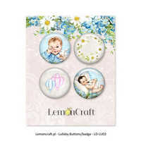Lemoncraft Lullaby BOY napit badge 4kpl