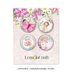 Lemoncraft Lullaby GIRL napit badge 4kpl
