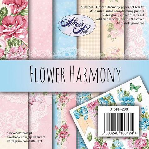 Altair Art Flower Harmony kuviopaperilehtiö 6x6