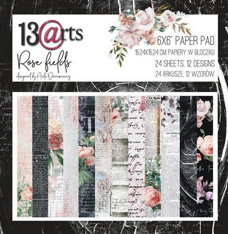 13@rts Rose fields paperisetti 15,2x15,2cm