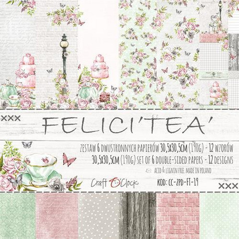 Craft O´Clock Felici´tea´ paperisetti 30,5x30,5cm 6kpl
