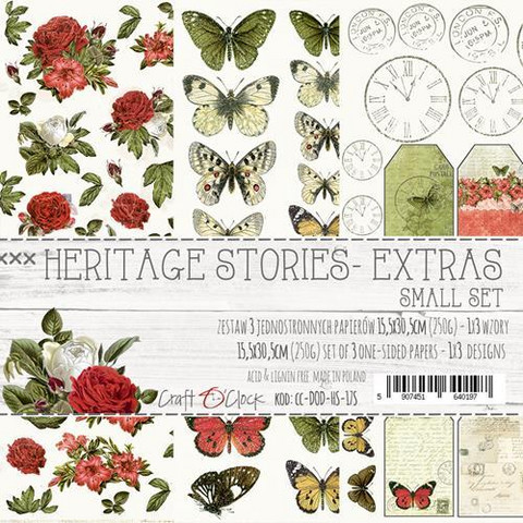 Craft O´Clock Heritage Stories 15,5x30,5cm 3kpl