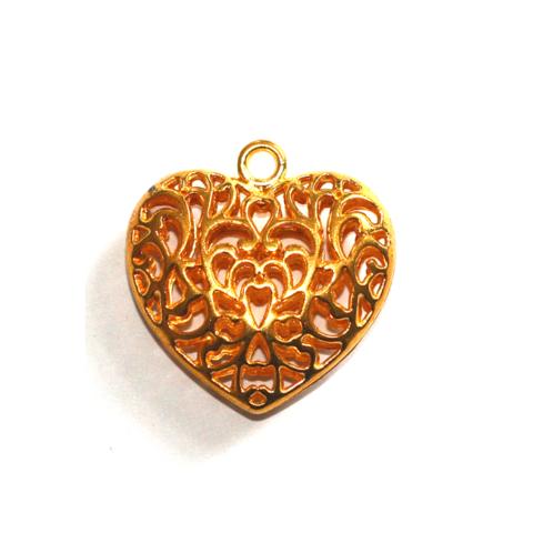 Sydänriipus kirkas kulta 34mm