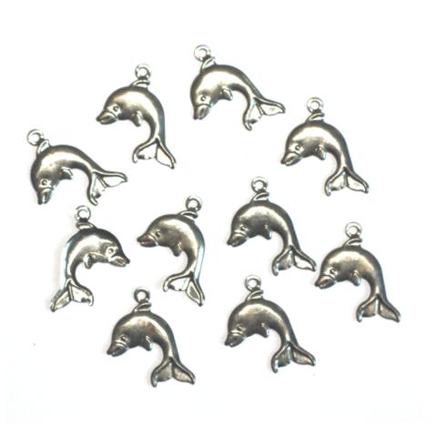 Delfiiniriipukset hopea 10kpl