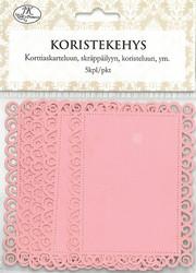 JK Koristekehys suorakaide vaaleanpunainen 5kpl