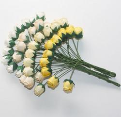 Isot ruusunnuput 40kpl keltamix