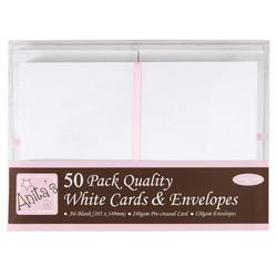 Anita´s a6 korttipohjat ja kuoret valkoinen 50kpl