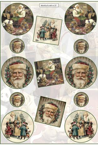 Helmiäishohtoiset korttikuvat joulu nr27