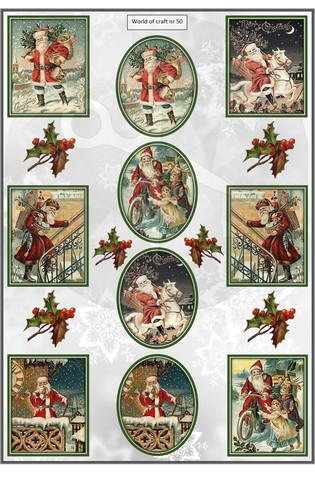 Helmiäishohtoiset korttikuvat joulu nr50