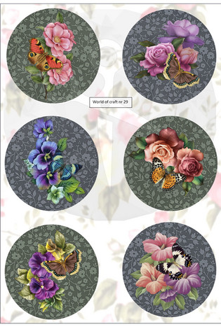Helmiäishohtoiset korttikuvat kukat nr29
