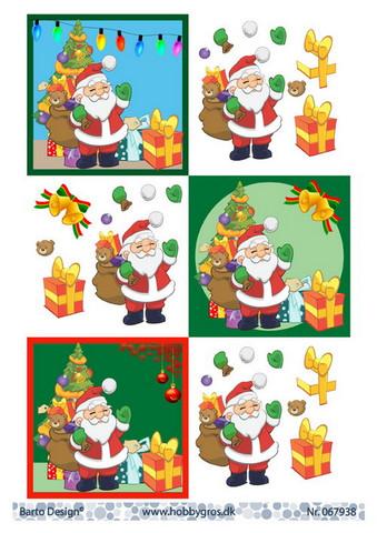 BD 3d-kuva joulupukit
