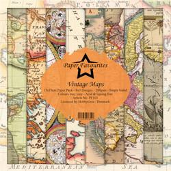 HG paperikko Vintage Maps 6x6