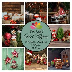Dixi Craft Toppers korttikuvat joulukuvia et0342