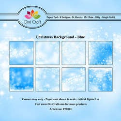 Dixi Craft paperikko Christmas background blue 6x6