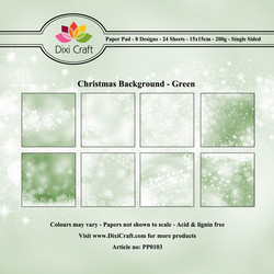 Dixi Craft paperikko Christmas background green 6x6