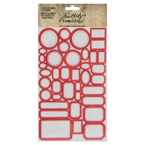 Idea-ology Tim Holtz Classic Label Stickers tarrat 152pcs (TH93959)