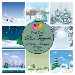 Dixi Craft Toppers korttikuvat talvisia kuvia et0271