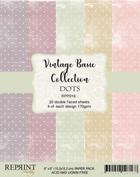 Reprint Vintage Basic DOTS Collection paperikko 6x6