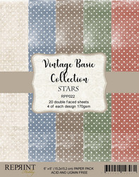 Reprint Vintage Basic STARS Collection paperikko 6x6