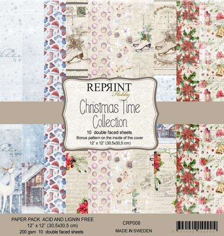 Reprint Christmas Time collection paperikko 12x12