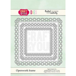 CRAFT & YOU DIE Openwork Frame stanssit CW072