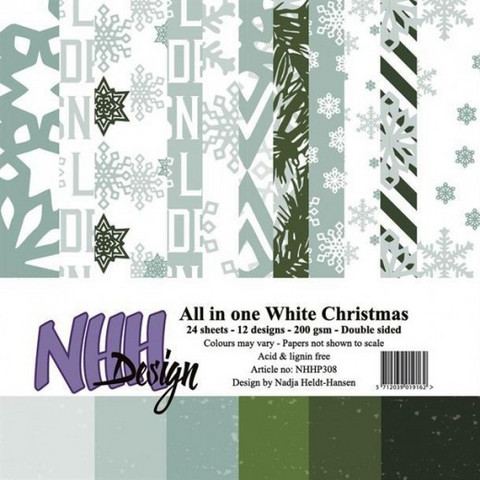 NHH Design All in one white christmas paperikko 6x6