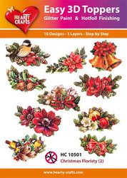 Hearty Crafts stanssatut 3d-kuvat Christmas Floristy2