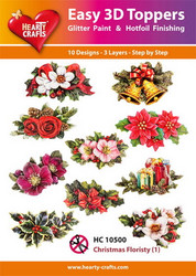 Hearty Crafts stanssatut 3d-kuvat Christmas Floristy1