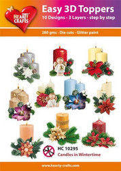 Hearty Crafts stanssatut 3d-kuvat Candles in wintertime